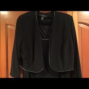 Dresses & Skirts - Black rhinestone formal dress two pieces 👗